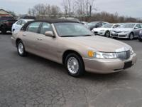 This classy Lincoln Town Car has good miles, is clean
