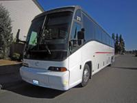 Looking at a 1998 MCI Coach Bus, its good for 58