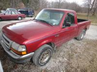 1998 Ford Ranger in a Deep Cherry Red This truck has