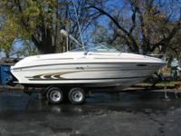 Sharp top quality Sea Ray 211/2 foot cuddy cabin.