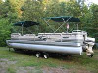1998 SmokerCraft 28ft pontoon in excellent condition.