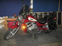 VERY CLEAN BIKE LOW MILES 5548 HAS WINDSHIELD ,SADDLE
