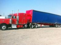 1998 Western Curtain Side Trailer. Air Ride Suspension;