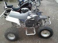 1998 Yamaha Blaster 200 CC two stroke. starts on the