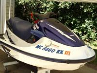 1998 Yamaha GP1200. 2 person PWC with 135 Hp. The top