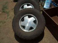 I HAVE UP FOR SALE A SET OF 16 INCH FACTORY WHEELS AND