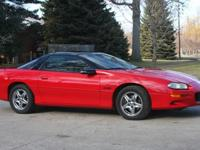 1998 LS1 Red Z28 Camaro with T-Tops. Drives and runs