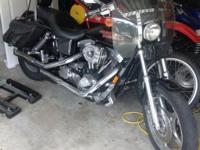 1998 Harley Davidson FX Dyna Lowrider. Black with tons