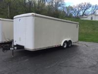 1998 PACE 20' Long / 8' Wide - Enclosed Trailer Rear