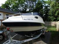 boat is in good condition need some upholstery trailer