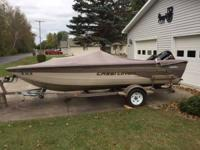 For sale is a 1999 Crestliner Aluminum Fishing Boat