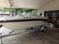 1999 used 20 foot Chapparal Ski Boat with open Bow,