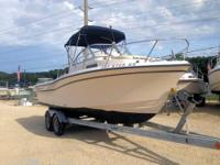 This 1999 20' Grady-White WA is powered by a 150HP fuel