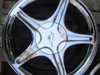 We have a collection of 2 17x8, (GT, 5 spokes), w/o