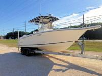 This 1999 26' Robalo Center Console powered by twin