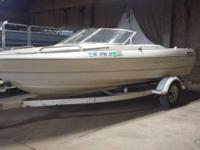1999 Bayliner Boat 19ft long Has bow cover and cover