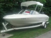 1999 BAYLINER 1850 CAPRI. NEW BIMINI TOP. NEW BOAT