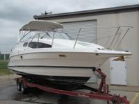 The BAYLINER is a large cabin cruiser that offers