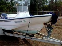 This is a 1999 model 16' Boston Whaler Dauntless. It is