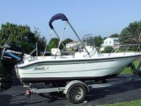 1999 Boston Whaler 16' Dauntless. Boat was developed in