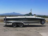 1999 CALABRIA SKI BOAT SPORT COMP XTS W/ TRAILER.This