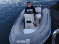 1999  caribe 12ft Rib center concole with 4stroke
