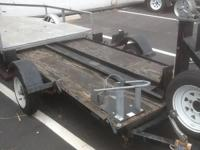 1999 CARRIER MOTORCYCLE TRAILER 7 FT 9 IN LONG BY 4 FT