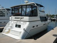 With a very nice layout the Carver 406 Aft Cabin offers