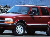 Blazer trim. 4x4. 4 Star Passenger Front Crash Rating.