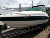 This 27' Chris-Craft is powered by a Volvo Penta 7.4Gi,