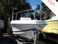 This 1999 Cobia 194 center console is powered by a 2000