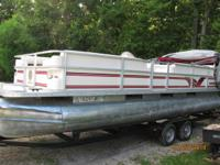 1999 crest 2 pontoon 25 ft. long with 1999 mercury 50