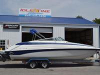 Sugary food 26' log cabin cruiser. Powered by a GM 5.7