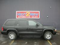 Options Included: This Is A Black 1999 Dodge Durango