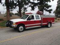 1999 Ford F-550 Brush Truck F-550 Diesel 4x4 Ford Crew