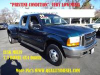 VERY PRISTINE CONDITION 7.3 4x4 dually with only 115k