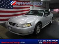Clean CARFAX. Silver 1999 Ford Mustang V6 RWD 5-Speed