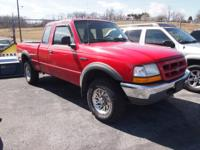 Exterior Color: red, Body: Super Cab Pickup 4X4,
