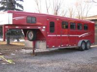 1999 Four Horse Diamond D Gooseneck Horse Trailer For