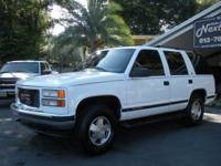Options Included: N/ANICE 1999 GMC YUKON SLT 2WD, WHITE