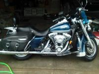 1999 Harley Davidson FLHR Road King. Dark-Blue metallic