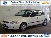 Options Included: Yes!...Its A 1999 Honda Civic LX With