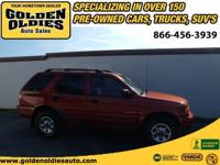 Options Included: N/AThis 1999 Isuzu Rodeo is a Florida