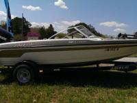1999 JAVELIN INSURGENT 20 BASS BOAT WITH TRAILER.