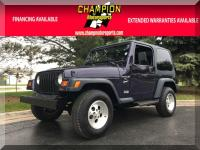 Options:  1999 Jeep Wrangler 2Dr Sport|Champion