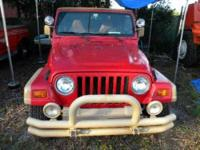 1999 Jeep Wrangler SUV 1999 Jeep Wrangler 4WD, New Top,