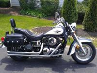 Kawasaki Vulcan motorbike which I have babied for years