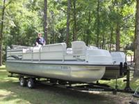 24' pontoon w/Force motor & trailer  Good