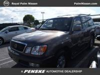 Extra Clean, CARFAX 1-Owner. LX 470 Luxury SUV trim,