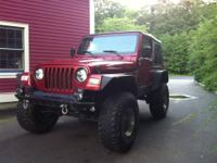 Chilly Pepper red 1999 wrangler 5 speed 104k miles 4.0L